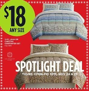 Leah or Cheetah Comforter Set