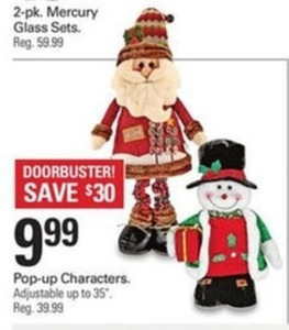Holiday Pop-up Characters