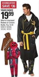 Men's Licensed Robes or Union Suits