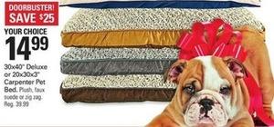 "30x40"" Deluxe or 20x30x3"" Carpenter Pet Bed"