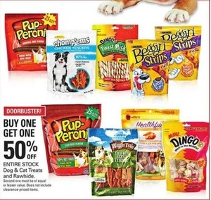 Entire Stock Dog & Cat Treats and Rawhide