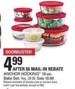 Anchor Hocking 16-PC Bake Set After Rebate