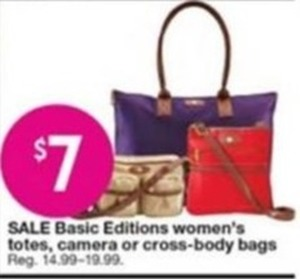 Basic Edition Women's totes, Camera or Cross-Body Bags