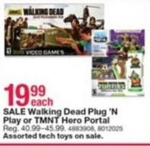 Walking Dead Plug 'N Play or TMNT Hero Portal