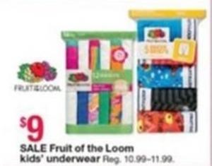 Kids Fruit of the Loom Underwear