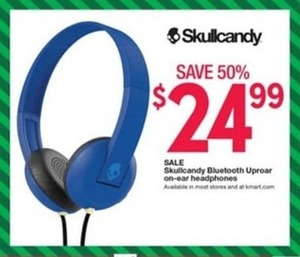 SkullCandy Bluetooth Uproar On-Ear Headphones