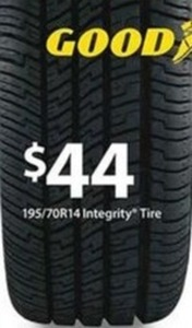 Goodyear 195/70R14 Integrity Tire