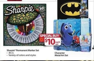 Sharpie Permanent Marker Set and Character Metal Art Set