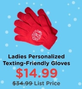 Women' Personalized Texting-Friendly Gloves
