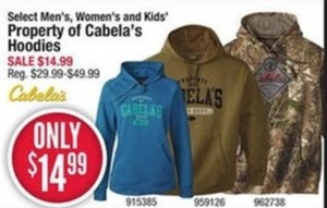 Property of Cabela's Hoodies