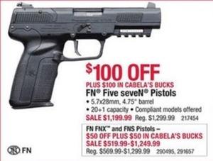 FN Five Seven Pistols 4.75 barrel