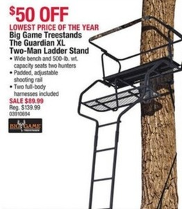 Big Game Treestands The Guardian XL