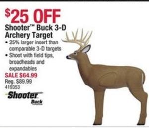 Shooter Buck 3-D Archery Target