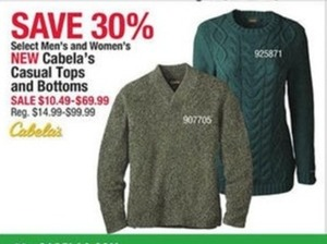 Men's Cabela's Casual Tops and Bottoms