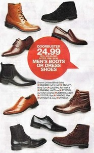 Select Men's Boots or Dress Shoes