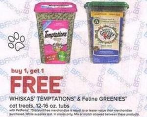 Whikas' Temptations & Feline Greenies Cat Treats