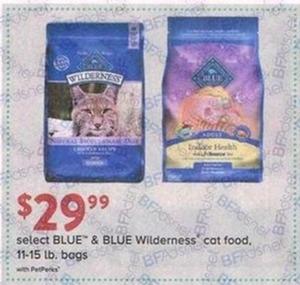 Select Blue & Blue Wilderness Cat Food 11-15lb. Bags