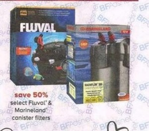Select Fluval & Marineland Canister Filters