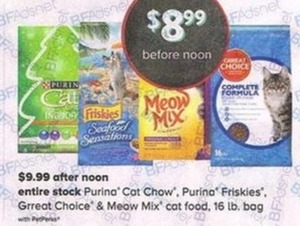 Entire Stock of Purina Cat Chow, Purina Friskies, Great Choice & Meow Mix Cat Food