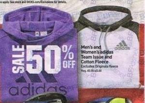 Men's and Women's Adidas Fleece