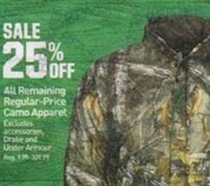All Remaining Regular Price Camo Apparel