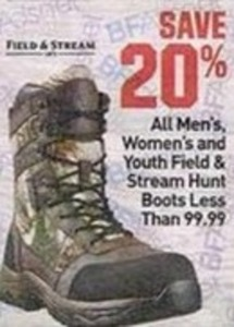 All Field and Stream Hunt Boots