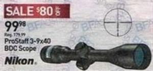 Nikon ProStaff 3-9x40 BDC Scope
