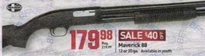 Maverick 88 Shotgun (12 or 20 ga.)