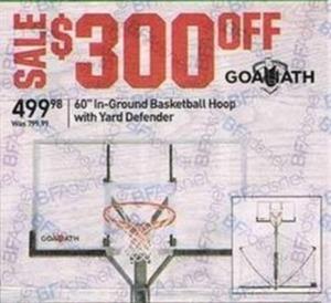 """60"""" In-Ground Basketball Hoop w/Yard Defender"""