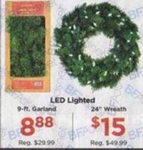 "9' Garland or 24"" Wreath"