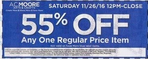 Any One Regular Priced Item Coupon