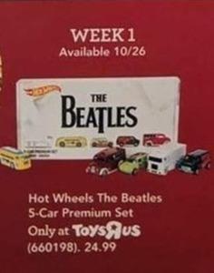 Hot Wheels The Beatles 5-Car Premium Set