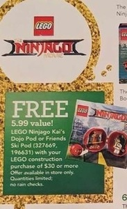 LEGO Ninjago Kai's Dojo Pod w/ $30 LEGO Construction Purchase