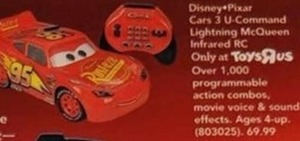 Disney Pixar Cars 3 U-Command Lightning McQueen Infrared RC