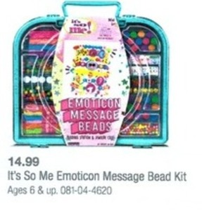 It's So Me Emoticon Message Bead Kit