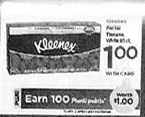 Kleenex Tissues + $1 PP