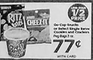Ritz Bits / Cheez-It / Chips Ahoy