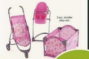 3-Piece Stroller Play Set