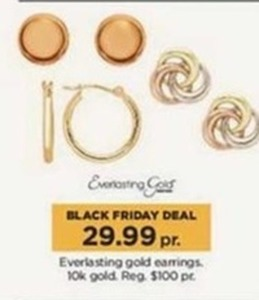 Everlasting 10k Gold Earrings