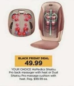 HoMedics Shiatsu Pro Back Massager w/Heat or Dual Shiatsu Pro Message Cushion w/Heat