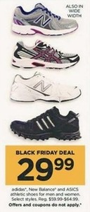 Select Adidas, New Balance, or Asics Athletic Shoes