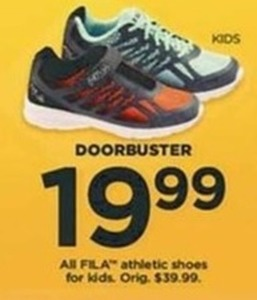 All Kids Fila Athletic Shoes