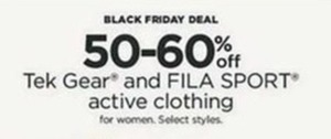 Tek Gear and Fila Sport Active Clothing for Women