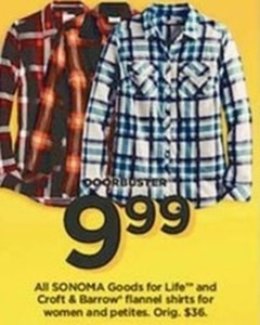 Sonoma Goods for Life Women Flannel Shirts