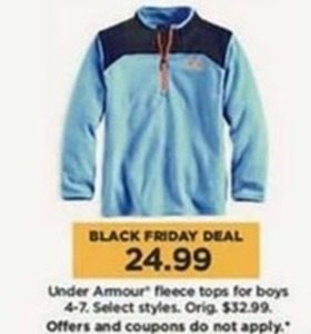 Boys Under Armour Fleece Tops