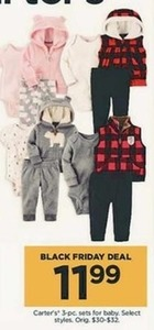 Select Baby Carter's 3-pc. Sets