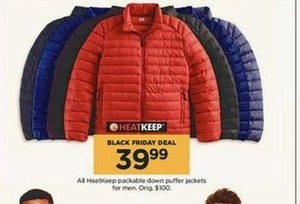 Men's All HeatKeep Packable Down Puller Jackets