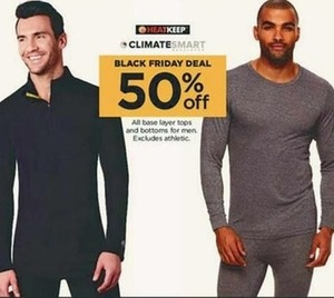 ClimateSmart Men's Base Layer Tops and Bottoms