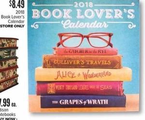 2018 Book Lovers Calendar