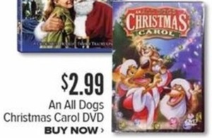 An All Dogs Christmas Carol DVD